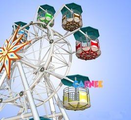 20m flower basket style ferris wheel